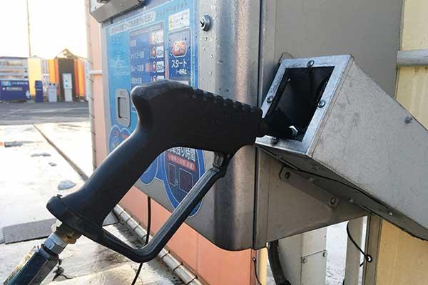 コイン洗車場の高圧洗浄機